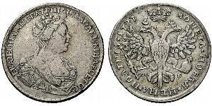 1 Poltina Russisches Reich (1720-1917) Silber Katharina I (1684-1727)