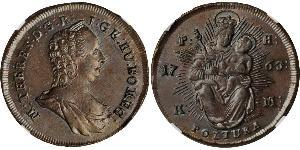1 Poltura Королевство Венгрия (1000-1918) Медь Maria Theresa of Austria (1717 - 1780)