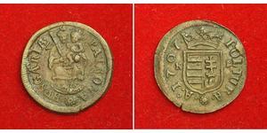 1 Poltura Hungary Copper Francis II Rákóczi (1676 – 1735)