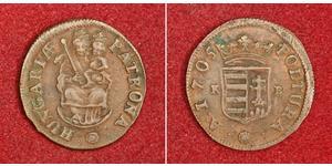 1 Poltura Hongrie Cuivre François II Rákóczi(1676 – 1735)