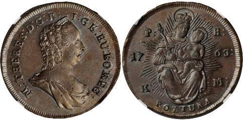 1 Poltura Royaume de Hongrie (1000-1918) Cuivre Maria Theresa of Austria (1717 - 1780)