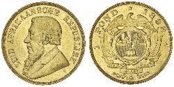 1 Pond Sudafrica Oro Paul Kruger (1825 - 1904)