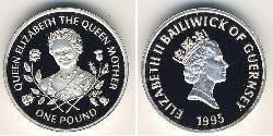 1 Pound Guernsey Argento