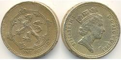 1 Pound United Kingdom (1922-) Brass/Nickel Elizabeth II (1926-)