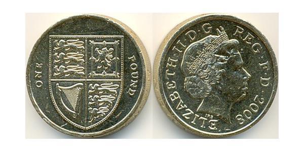 1 Pound Feriind Kiningrik (1922-) Cuivre/Acier Elizabeth II (1926-)
