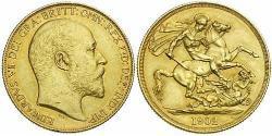 1 Pound Vereinigtes Königreich von Großbritannien und Irland (1801-1922) Gold Eduard VII (1841-1910)