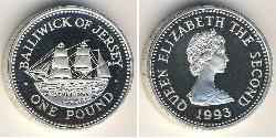 1 Pound Jersey Silber