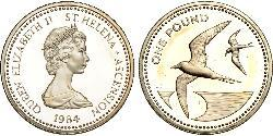 1 Pound St. Helena (1981 - ) / Ascension Silber Elizabeth II (1926-)