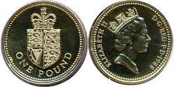 1 Pound Vereinigtes Königreich (1922-)  Elizabeth II (1926-)