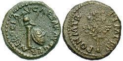 1 Quadrans Römische Kaiserzeit (27BC-395) Bronze Nero  (37- 68)