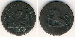 1 Quarto Gibraltar Kupfer