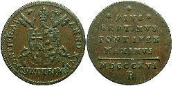 1 Quattrino Papal States (752-1870) Copper Pope Pius VII (1742 -1823)