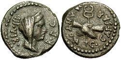 1 Quinarius 罗马共和国 (509 BC - 27 BC) 銀 Mark Antony (83BC-30BC)