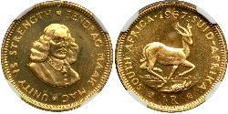 1 Rand Sudáfrica Oro