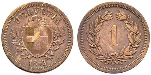 1 Rappen 瑞士 青铜