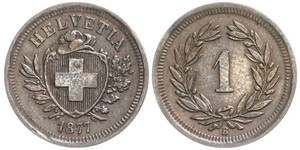 1 Rappen Schweiz Bronze
