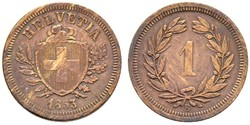 1 Rappen Switzerland Bronze