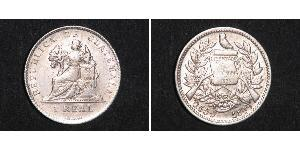 1 Real Guatemala (1838 - ) Argent