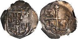 1 Real Vicereame della Nuova Spagna (1519 - 1821) Argento Filippo II di Spagna (1527-1598)