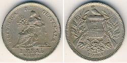 1 Real Guatemala (1838 - ) Nichel