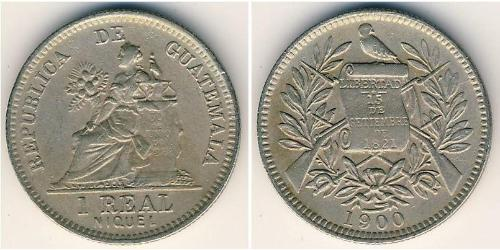 1 Real República de Guatemala (1838 - ) Nickel