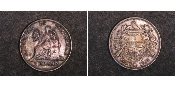 1 Real República de Guatemala (1838 - ) Nickel