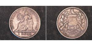 1 Real Republic of Guatemala (1838 - ) Nickel