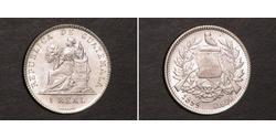 1 Real República de Guatemala (1838 - ) Silber