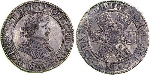 1 Real Republik der Sieben Vereinigten Provinzen (1581 - 1795) Silber Robert Dudley, 1st Earl of Leicester (1532 - 1588)