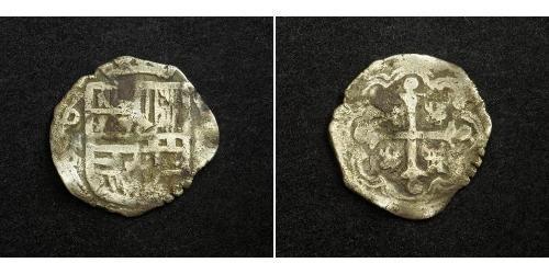 1 Real Vizekönigreich Neuspanien (1519 - 1821) Silber Philipp III. von Spanien (1578-1621)