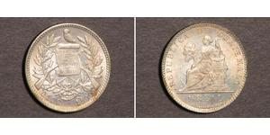1 Real Republic of Guatemala (1838 - ) Silver