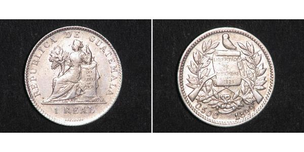 1 Real Republic of Guatemala (1838 - ) Silver