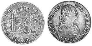 1 Real Spanish Mexico  / Kingdom of New Spain (1519 - 1821) Silver Charles IV of Spain (1748-1819)