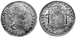 1 Real Viceroyalty of the Río de la Plata (1776 - 1814) / Bolivia Silver Ferdinand VII of Spain (1784-1833)