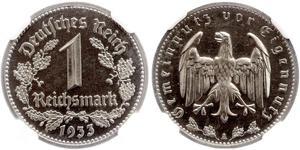 1 Reichsmark Третій рейх (1933-1945) Нікель