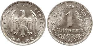1 Reichsmark 納粹德國 (1933 - 1945) 镍