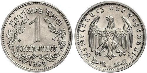 1 Reichsmark Germania nazista (1933-1945) Nichel