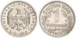 1 Reichsmark Deutsches Reich (1933-1945) Nickel