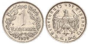 1 Reichsmark Nazi Germany (1933-1945) Nickel