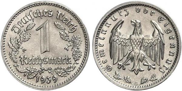 1 Reichsmark Nazi Germany (1933-1945) Nickel
