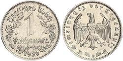 1 Reichsmark Troisième Reich (1933-1945) Nickel