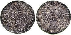 1 Rijksdaalder Republik der Sieben Vereinigten Provinzen (1581 - 1795) Silber Rudolf II. (HRR) (1552 - 1612)
