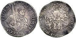 1 Rijksdaalder Dutch Republic (1581 - 1795) Silver William the Silent (1533 - 1584)