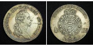 1 Riksdaler Швеція Срібло Gustav III of Sweden (1746 - 1792)