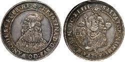 1 Riksdaler 瑞典 銀 克里斯蒂娜女王 (1626 - 1689)