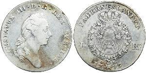 1 Riksdaler Svezia Argento Gustavo III di Svezia (1746 - 1792)