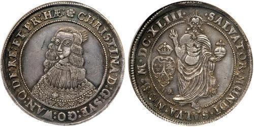 1 Riksdaler Svezia Argento Cristina di Svezia (1626 - 1689)