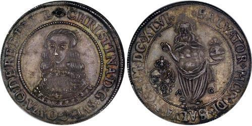 1 Riksdaler Schweden Silber Christina (Schweden) (1626 - 1689)