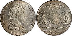 1 Riksdaler United Kingdoms of Sweden and Norway (1814-1905) Silber Karl XIV. Johann (1763-1844)