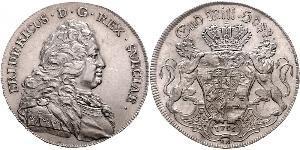 1 Riksdaler Sweden Silver Frederick I of Sweden (1676 -1751)